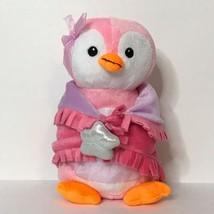 """Fiesta Tutu Penguin Plush Stuffed Animal Blanket Babies 2011 11"""" Pink  - $27.72"""