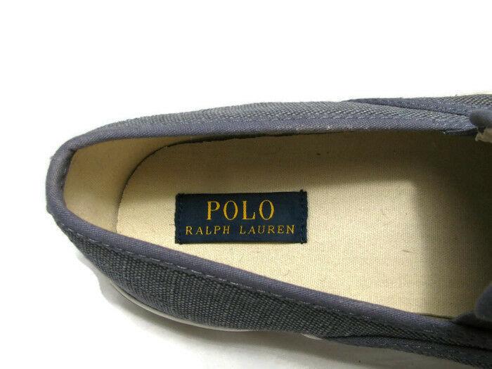 Polo Ralph Lauren Mytton Men's Canvas Blue Sneakers Shoes Burlap Slip On 12 D