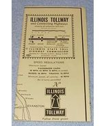Chicago Illinois State Tollway and Connecting Highways Map 1959 - $5.00