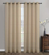 Urbanest 54-inch by 84-inch Sahara Set of 2 Linen Sheer Curtain Drapery Panels w - $32.66
