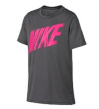 Nike Boys Small Grey Dri Fit Training T Shirt AQ9554 New  - $12.86
