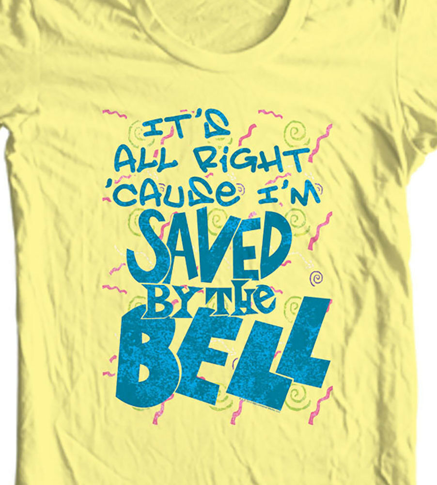 Saved by the Bell T-shirt retro 80s TV show 100% cotton yellow tee NBC780