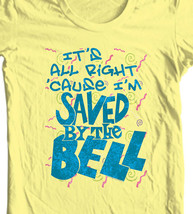 Saved by the Bell T-shirt retro 80s TV show 100% cotton yellow tee NBC780 image 1