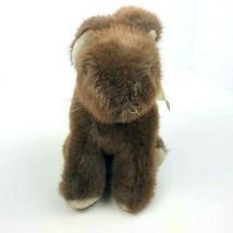"Vintage Dakin 1986 Bunny Rabbit Sitting 9"" Brown Plush Stuffed Animal Floppy  image 2"