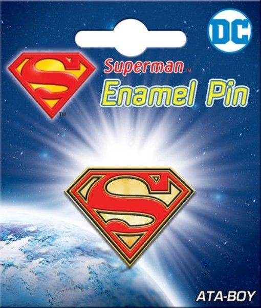 Primary image for DC Comics Superman Chest S Logo Thick Metal Enamel Pin NEW UNUSED