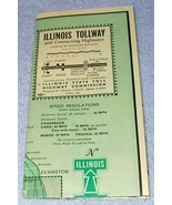 Chicago Illinois State Tollway and Connecting Highways Map 1961 - $5.95