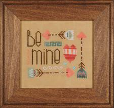 Be Mine valentine cross stitch chart Heart in Hand - $4.50