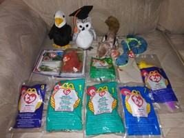 Lot Of 11 TY Beanie Babies & Mcdonalds Teenies New Plush Beanbag Stuffed... - $27.71