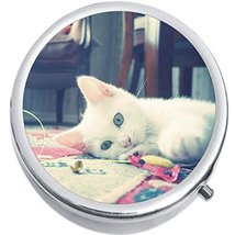 White Cat Medicine Vitamin Compact Pill Box - $9.78