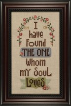 Song Of Solomon cross stitch chart Heart in Hand - $9.90