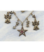 Top Shelf Jewelry Angel Charm Necklace Signed Christmas Jewelry - $11.99