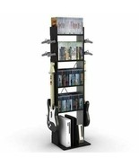 Black Video Game Console Controller Stand Storage Rack Organizer Tower X... - $65.24