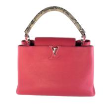 Louis Vuitton Taurillion Leather Python Handle Capucines MM Bag - $2,116.00