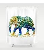 Shower curtains art shower curtain Design 36 mosaic elephant by L.Dumas - $69.99