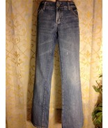 AMERICAN EAGLE Women's Favorite Boyfriend Jeans Sz 6 Long Light Blue Denim AE - $16.44