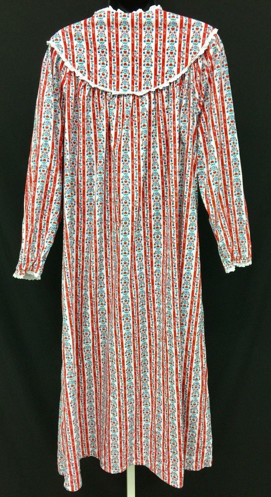 Vtg Lanz of Salzburg Flannel Red Crimson and similar items