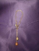 Joan Rivers Charm Bracelet Hanging Speckled Enamel Egg Charms Multi-Clasp - $35.64