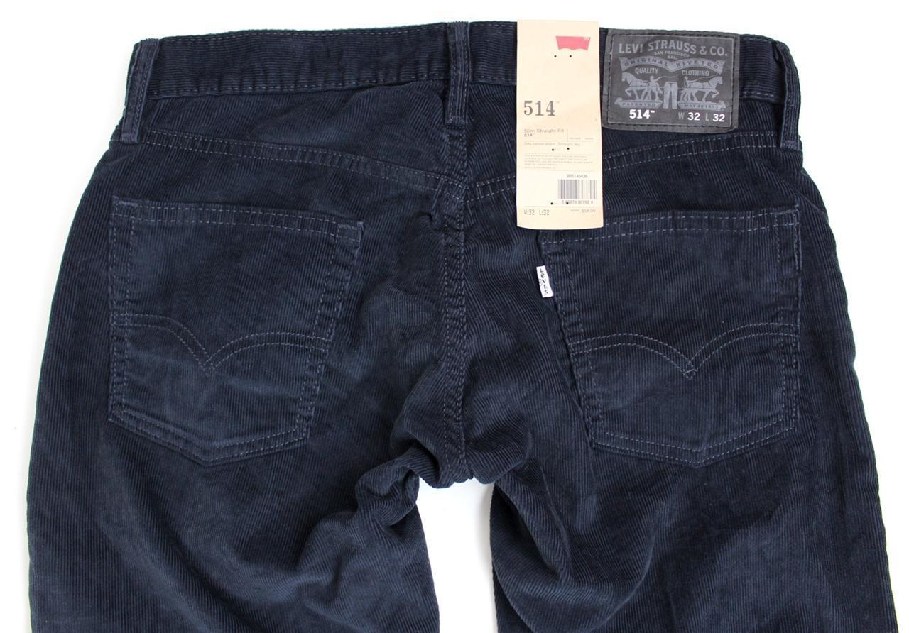 NEW LEVI'S STRAUSS 514 MEN'S ORIGINAL SLIM FIT STRAIGHT LEG JEANS PANTS 514-0436