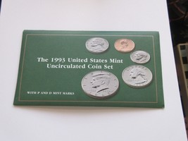 1993 United States Mint Uncirculated Coin Set  With P and D Mint Marks , 5 Sets - $29.70