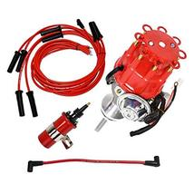 A-Team Performance Ready 2 Run Distributor, 8.0mm Spark Plug Wires, 45k Volts Ca