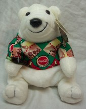 "Coca-Cola COKE POLAR BEAR IN ARGYLE SHIRT 4"" Bean Bag STUFFED ANIMAL TOY... - $14.85"