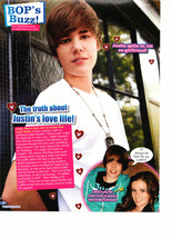 Justin Bieber teen magazine pinup clipping by a fence hearts everywhere Bop - $3.50