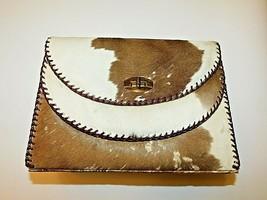 Authentic Vintage Mar-Joe 1920's Hand Bag Unborn Calf Fur Brown White Purse - $142.45