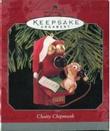 Hallmark Keepsake Ornament Chatty Chipmunk 1998 Telephone Tree Christmas - $5.34
