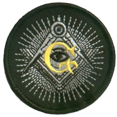 Embroidered Patch Masonic Eye Patch