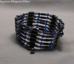 Royal Blue Crystal/Cloisonne Beads/ Magnetic Hematite Lariat - $24.00