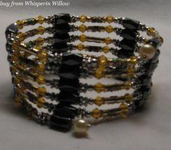 Gold Crystal Cloisonne Lariat - $24.00