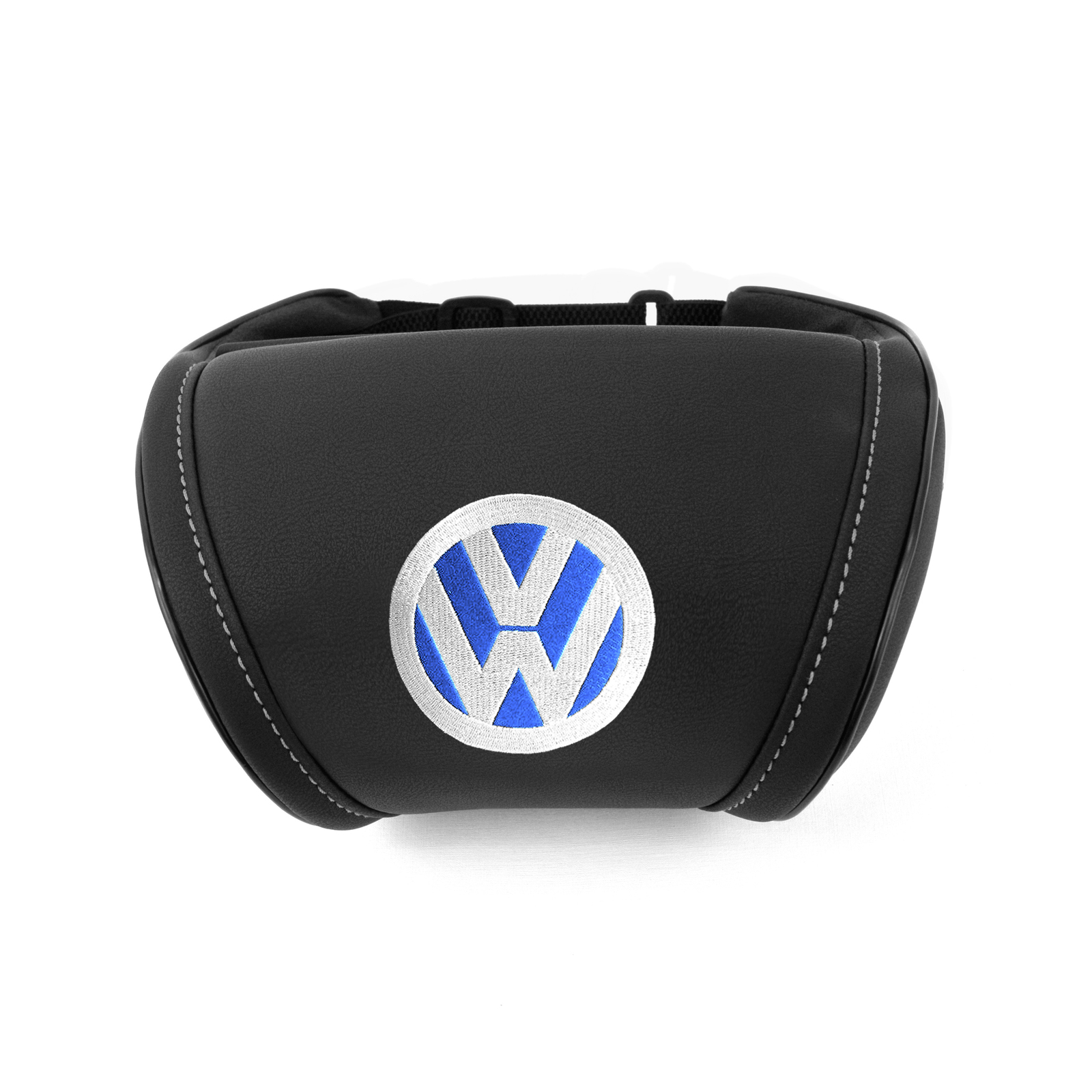 embroidery on seat and like similar inteiror emblem black cushion items car rest a pillow neck accessories volkswagen blue head