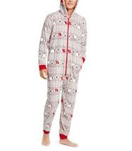 Family Pajamas Macy's Men's Polar Bear Hooded Pajamas 100072458 Grey M XL - $29.95