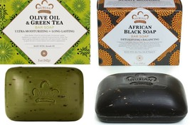 Nubian Heritage -1 Pk- Afri Blk Soap +1 Pk Olive Oil & Green Tea Soap - $9.80