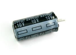 4pcs Panasonic FJ 2200uf 10v 105C Radial Electrolytic Capacitor Low ESR - $4.17