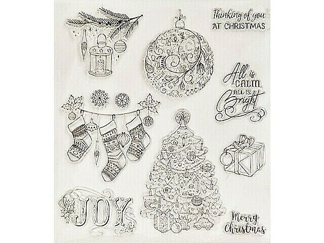 Large Christmas Clear Stamps, Set of 11