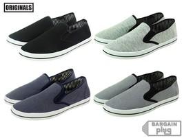 Mens Canvas Shoes Slip On Casual Colors Sneakers Kicks Originals Lowtop Footwear - $18.33 CAD