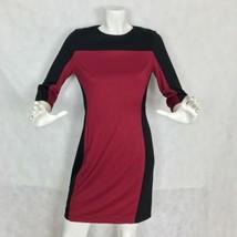 NWT New Cynthia Steffe Dress Selma Colorblock Ponte Black Bordeaux size 8 - $89.99