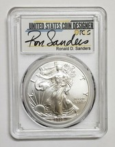 2020 P SILVER EAGLE $1 EMERGENCY ISSUE PCGS MS70 FDOI RONALD SANDERS Coin # c134 image 2