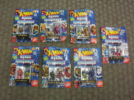 Lot of 7 X-Men Steel Mutants 14 Die Cast Action Figures TOY BIZ 1994 MOC - $34.95
