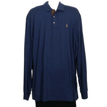 POLO RALPH LAUREN Blue Cotton Soft Touch Classic Fit Long Sleeve Polo Sh... - $69.99