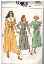 9875 Vintage Vogue Sewing Pattern Misses Dress Loose Fitting Bodice 8 - ... - $4.84