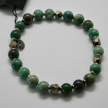 SILVER 925 BRACELET WITH HEMATITE AND JASPER BBUS-5 MADE IN ITALY BY MASCHIA image 3