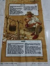 Norseman Western Australia Billy Tea And Damper Souvenir Recipe Linen Di... - $14.03