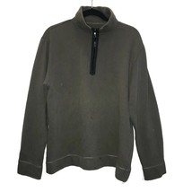 GAP Pullover Sweater Size L Olive Green Mock Neck 1/2 Zip Long Sleeve - $14.94
