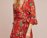 NWT ANTHROPOLOGIE KENZIE WRAP DRESS by FARM RIO L