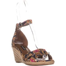 Nine West Jeranna Wedge Heel Espadrilles Sandals, Blue Multi - $38.99
