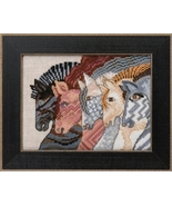 Moroccan Mares 2017 Horses Collection LINEN cross stitch kit Laurel Burc... - $17.10