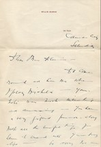 BILLIE BURKE Handwritten and signed letter. Nice autograph. The Wizard o... - $346.50