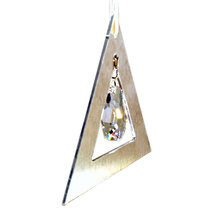Aluminum and Crystal Triangle Ornament  Meteor image 3